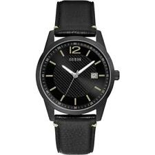 Mens Wristwatch GUESS SUNRAY W1186G2 Genuine Leather Black  Classic