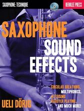 SAXOPHONE SOUND EFFECTS & TECHNIQUES BREATHING EXCERCISES BOOK W/CD
