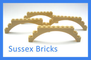 Lego Castle City 4x Tan Raised Arch 1x12x3 (6108 14707) New Pieces