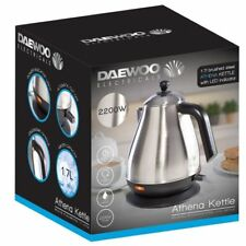 Daewoo Brushed Stainless Steel ATHENA  Cordless Jug Kettle – 1.7L 2200W NEW