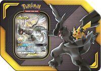 2019 Pokemon TCG TAG TEAM Tin Pikachu & Zekrom GX 4 Booster Packs Sealed New