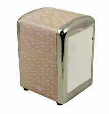 Retro 1950's American Diner Style Napkin/Serviette Tissue Dispenser Holder Pink