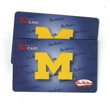 ( 2 ) Michigan Wolverines Tim Hortons Gift Cards