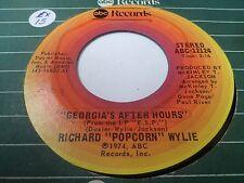 "7"" RICHARD POPCORN WYLIE - Georgia's after hours - EX - ABC-12124 - US 1974"
