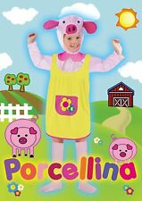 Costume Porcellina Maialina Peppa Pig TG. S (3/4 anni) in busta