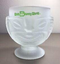 Walt Disney World Polynesian Village Resort Frosted Glass Happy Sad Tiki Mug