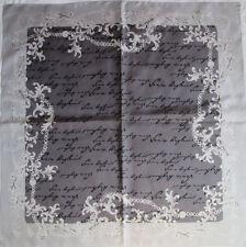 -Superbe Foulard SONIA RYKIEL 100% soie (T)BEG  vintage Scarf  89 x 90 cm