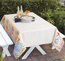 "Better Homes & Gardens Sealife Tablecloth 60"" x 84"" Beach Sea Shells"