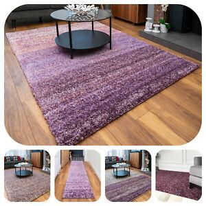 Purple Shaggy Rugs for Living Room Lavender Heather Fluffy Soft Shag Hallway Rug
