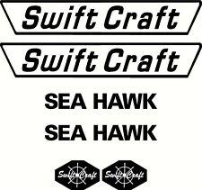 Swift Craft Sea Hawk Set, Fishing Boat Sticker Decal Marine Set of 6