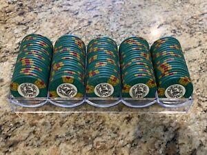100 Chip Rack Lot Binion's Horseshoe Mold Club Las Vegas Nevada Casino $25 Chips