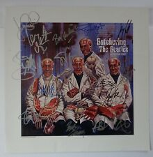 [SUPER RARE] FULLY AUTOGRAPHED 'Butchering The Beatles' Lithograph + COA