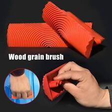 Imitation Wood Grain Paint Roller Brush Wall Texture Art Painting Tool 2PCS Set
