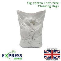 1kg Bag 100% Cotton Sheet Lint-Free Cleaning Rags / Wipers / Cloths (Bag of Rag)