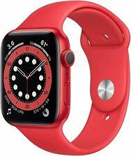 Apple Watch Series 6 44mm Aluminum Case Red Sport Band Smart Watch A2292
