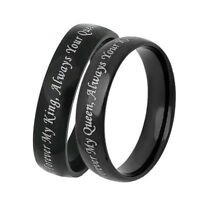 EE_ Lovers Rings Forever My King Always Your Queen Promise Couple Jewelry Latest