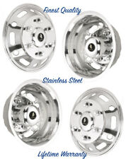 "16"" SPRINTER STAINLESS STEEL WHEEL SIMULATOR RIM LINER HUBCAP COVERS SET OF 4 ©"