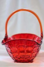 VINTAGE TIARA AMBERINA SUNSET CONSTELLATION 11 INCH BASKET WITH APPLIED HANDLE