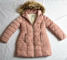 GIRL'S NEXT 7 YRS (122 Cm) FAUX FUR  PINK PADDED WARM WINTER COAT NEXT DAY POST