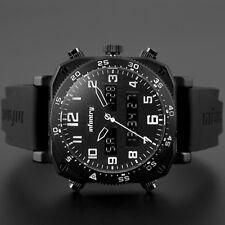 INFANTRY Herrenuhr Analog Armbanduhr Digital Chronograph Outdoor Schwarz Flieger