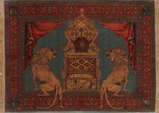 Vegetable Dye 780 Knots Masterpiece Pictorial 5x7 Wool&Silk Persian Senneh Rug