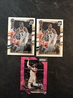 Lot of (3) Panini PRIZM OPTIC Basketball #206 Dwayne Wade SP PINK ICE