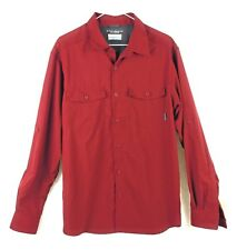 Columbia Omni Shade Sun Protection Men's M size RED Vented LS Shirt Polyester