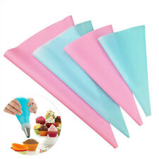 4PCS Reusable Piping Bag Icing Fondant Cake Cream Decorating Pastry Tips Tool