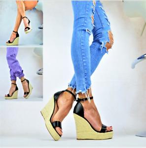 Neu Designer Damenschuhe Sexy-Plateau High Heels XXL Keilabsatz Party Pumps