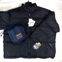 NEW Woolrich Mens John Rich & Bros DOWN Packable Puffer Winter Coat BLUE Jacket