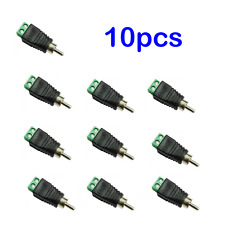 Audio Video Phono Male RCA Connector Jack Plug to CAT5 CAT6 Speaker Wire 10pcs