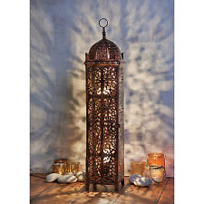 Large Antique Bronze Moroccan Floor Lamp -  Vintage Style for Lounge & Bedroom