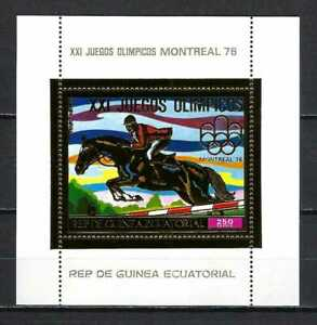 Equatorial Guinea 1976 Mi Block 226  Montreal Olympics-Show Jumping MNH SS $9.75
