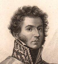 Portrait XIXe Maréchal Molitor Hayange Napoléon Bonaparte Premier Empire 1818