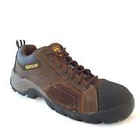 Caterpillar P89957 Mens Argon Composite Toe EH Lace Up Brown Work Shoes SZ 8.5