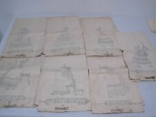 RARE 1940s 7 DAYS OF THE WEEK LINEN KITCHEN DISH TOWELS NOS NEEDS EMBROIDERY!