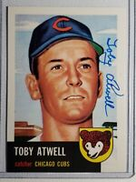 1953 Topps Toby Atwell Archives Auto Autograph Card Signed Cubs Pirates D-2003