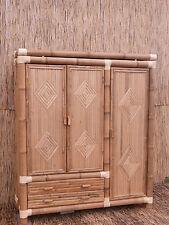 Bambusschrank Kleiderschrank Bambus Schrank Bambusmöbel Bambusbett Bali 3 180 cm