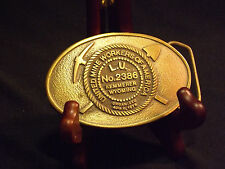 United MIne Workers of America L.U. 2386 Kemmerer, Wyoming Belt Buckle. LOOK!