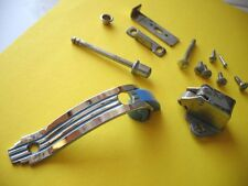Vintage NOS MCM CHROME BLUE Lines Cabinet Door Pull Push Button Latch Amerock