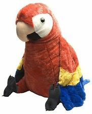 "Scarlet Macaw Soft Plush Toy Jumbo 23"" 60cm Tall Wild Republic Quality"