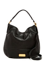 Marc by Marc Jacobs New Q Hillier Leather Hobo black handbag designer M0009407