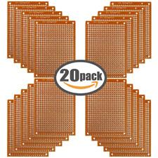Copper Perfboard 20 PCS Paper Composite PCB Boards (5 cm x 7 cm) Universal Bread