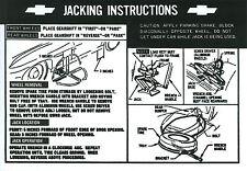 1967  CORVETTE JACK INSTRUCTION  DECAL