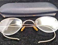 Shuron 1/10 12k GF Gold Filled Semi Frame Flexible Arm Eyeglasses w/ Case old