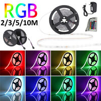 10M 600 LED RGB Strip Light IR Remote 12V US/EU Power Plug Full Kit Xmas Decor