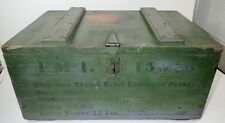 vintage large Radio Equipment wood shipping storage box crate trunk distressed
