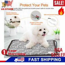Pet Electric Pad Blanket Heat Heated Heating Mat Dog Cat Bunny Bed Waterproof