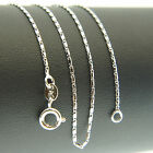 18k White Gold F 46cm 18'' heshe necklace 1mm solid chain for pendant AUS MADE