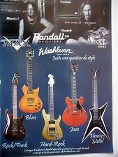 PUBLICITE-ADVERTISING :  Guitares WASHBURN Amplis RANDALL  09/2004 Disturbed...